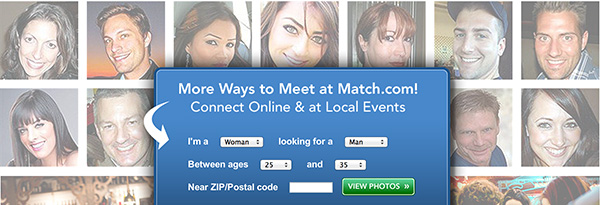 Match.com splash page